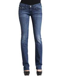 True Religion Billy Del Mar Flap-pocket Straight-leg Jeans - Lyst