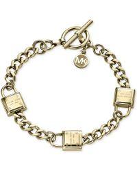 Michael Kors Padlock Motif Toggle Bracelet - Lyst