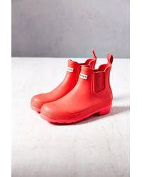 Hunter Original Neon Short Rain Boot - Lyst