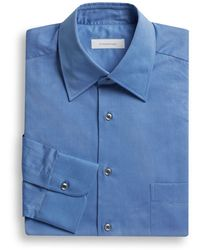 Ermenegildo Zegna Woven Cotton Dress Shirt - Lyst