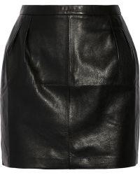 Blk Dnm 20 Leather Mini Skirt - Lyst