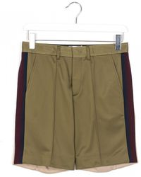 MSGM Wire Pocket Double Color Shorts green - Lyst