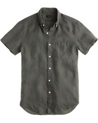 J.Crew Shortsleeve Shirt in Irish Linen - Lyst