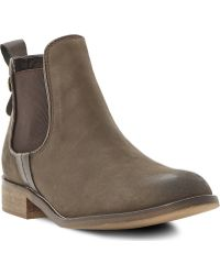 Steve Madden Gilte Chelsea Ankle Boots Brown - Lyst