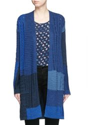 Diane von Furstenberg | 'jackson' Mix Patchwork Open Front Cardigan | Lyst