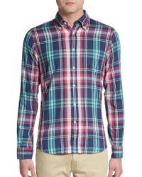 Gant Rugger Windblown Madras Plaid Oxford Sportshirt - Lyst
