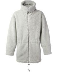 MSGM Hooded Fleece Coat - Lyst