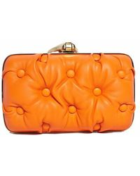 Benedetta Bruzziches Carmen Orange Clutch - Lyst