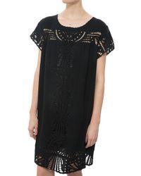 Sea Babydoll Dress black - Lyst