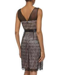 Laundry By Shelli Segal Sleeveless Lace Cocktail Dress - Lyst