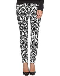 Cece by Cynthia Steffe - Flocked Ponte Slim Trousers - Lyst