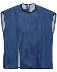 Craig Green Cotton-Denim Tank T-Shirt blue - Lyst