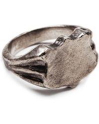Lulu Frost G. Frost Bullet Shield Ring silver - Lyst