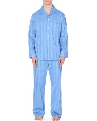 Derek Rose Lingfield Cotton Satin Stripe Pyjamas - Lyst