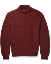 Richard James Ribbed-Knit Wool Rollneck Sweater - Lyst