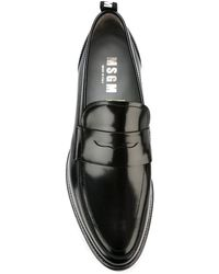 MSGM - Almond Toe Penny Loafers - Lyst