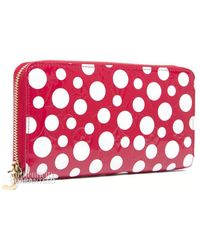 Louis Vuitton Preowned Red Kusama Infinity Dots Wallet - Lyst