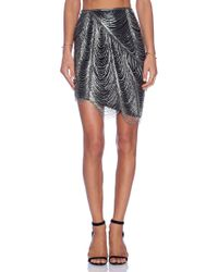 Haute Hippie Fringe Pencil Skirt - Lyst