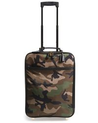 Valentino - Rockstud Camo Print Roller Suitcase - Lyst