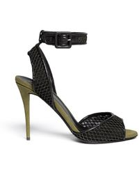 Giuseppe Zanotti Mesh Ankle Strap Suede Sandals - Lyst