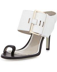 Jason Wu Buckled High-Heel Slide Sandal black - Lyst