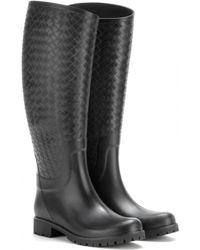 Bottega Veneta Intrecciato-Effect Rubber Wellington Boots - Lyst