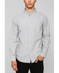 Obey Dissent Stripe Oxford Button Down Shirt - Lyst