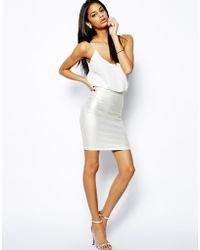 Tfnc Cami Dress with Metallic Skirt - Lyst
