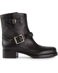 Valentino Biker Boots with Studs - Lyst