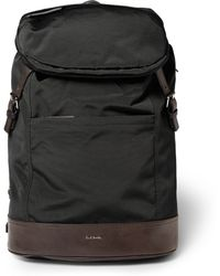 Paul Smith Leather-panelled Grosgrain Backpack - Lyst