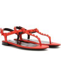 Balenciaga Classic Screw Matte Leather Sandals - Lyst