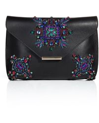 Emilio Pucci Embellished Leather Newton Envelope Clutch - Lyst
