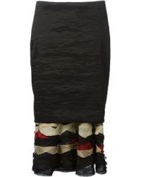 Donna Karan New York Peplum Skirt - Lyst