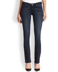 Paige Skyline Transcend Straight-Leg Jeans - Lyst
