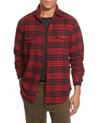 Relwen - Regular Fit Double Face Flannel Shirt - Lyst
