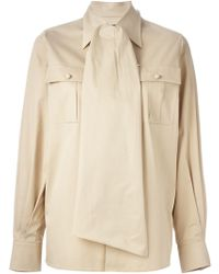 DSquared2 Scarf Detail Shirt - Lyst