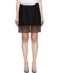 Marc Jacobs Black Layered Broderie Anglaise Skirt - Lyst
