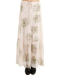 Twelfth Street Cynthia Vincent - 12th Street By Cynthia Vincent Tiered Floral Maxi Skirtdress Pink - Lyst