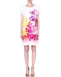 Diane Von Furstenberg Harriet Floralprint Silk Dress Tropical Peony - Lyst