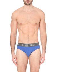 Calvin Klein Zinc Cotton Hipster Briefs - For Men - Lyst