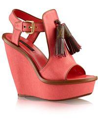 Louis Vuitton Destination Wedge Sandal - Lyst