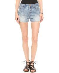 J Brand Carly Rigid Denim Shorts Reflection - Lyst