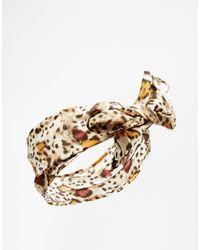 Asos Leopard Print Headscarf - Lyst