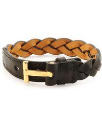 Tom Ford Nashville Men'S Braided Leather Bracelet - Lyst