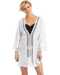 La Blanca Peep Show Swim Cover Up Tunic - Lyst
