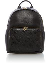 DKNY | Logo Embossed Black Backpack | Lyst