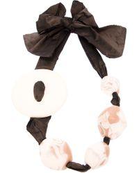Antonella Filippini - Beaded Bow Ribbon Necklace - Lyst