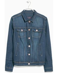 Violeta by Mango Dark Denim Jacket - Lyst