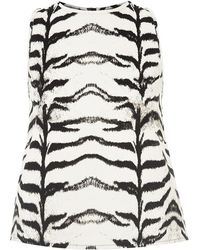 7 For All Mankind Tiger Print Top - Lyst