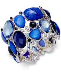 Style & Co. - Silver-tone Blue Stone Bracelet - Lyst